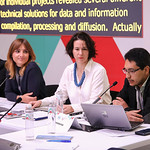 Speakers during the Open Forum on Fostering Dialogue between Internet  Observatories and Maps. December, 2016.