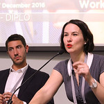 Luca Belli and Dr Tereza Horejsova at a workshop on the Geneva Internet Platform (GIP) initiative, and the experience of GIP local hubs that have started operating worldwide, as platforms to ...